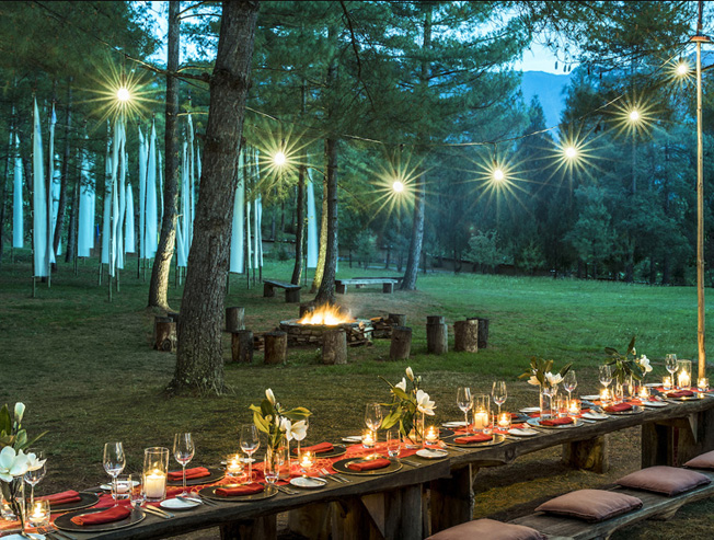 Dining Experience in an Archery Field